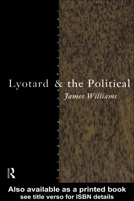 Lyotard and the Political EB9780203225301
