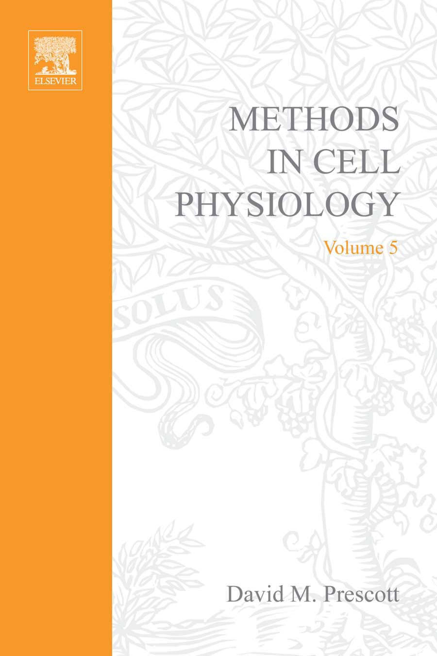 METHODS IN CELL BIOLOGY,VOLUME  5 EB9780080859026