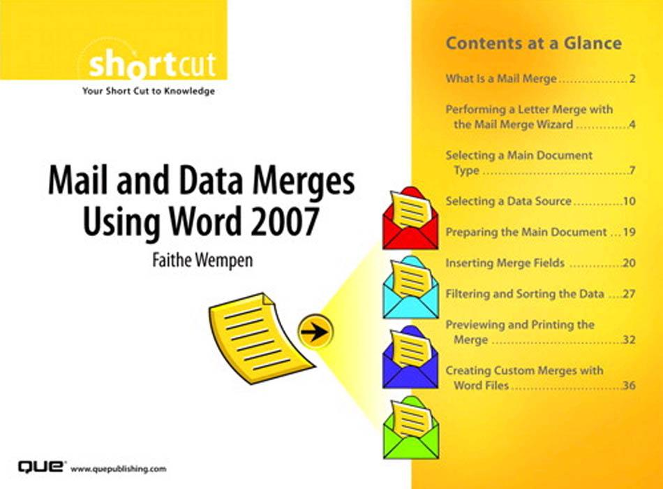 Mail and Data Merges Using Word 2007 EB9780768681000