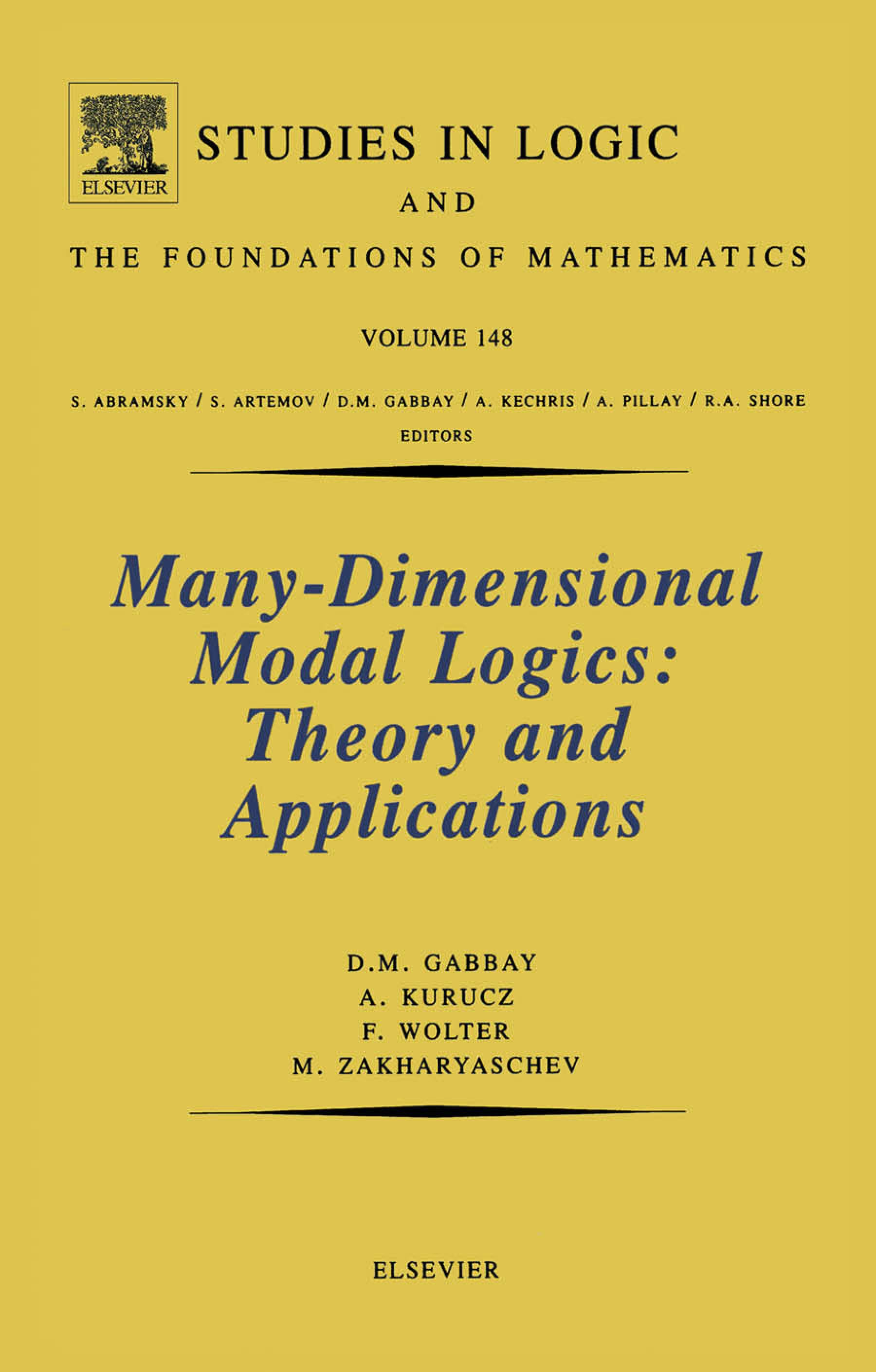 Many-Dimensional Modal Logics: Theory and Applications: Theory and Applications EB9780080535784