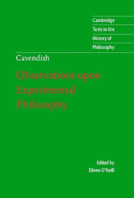 Margaret Cavendish: Observations upon Experimental Philosophy EB9780511034404