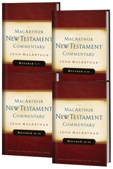 Matthew 1-28 MacArthur New Testament Commentary Four Volume Set EB9780802482648