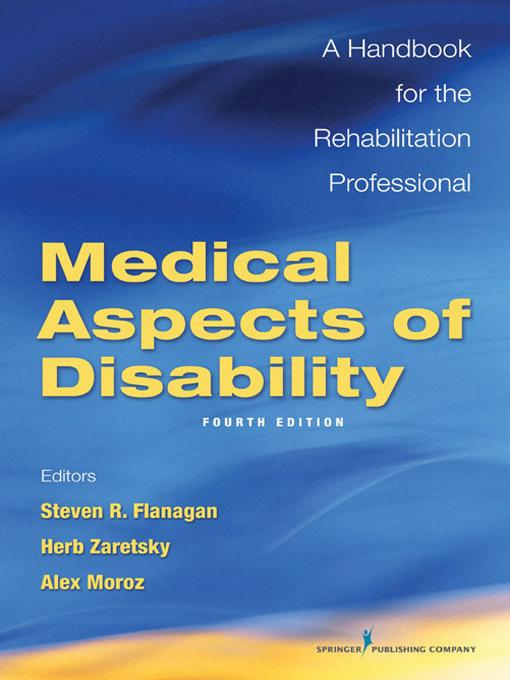 Medical Aspects of Disability EB9780826127846