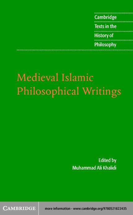 Medieval Islamic Philosophical Writings EB9780511079054
