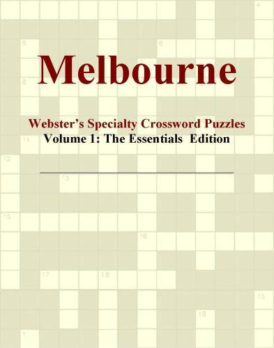 Melbourne - Webster's Specialty Crossword Puzzles, Volume 1: The Essentials  Edition EB9780546423983