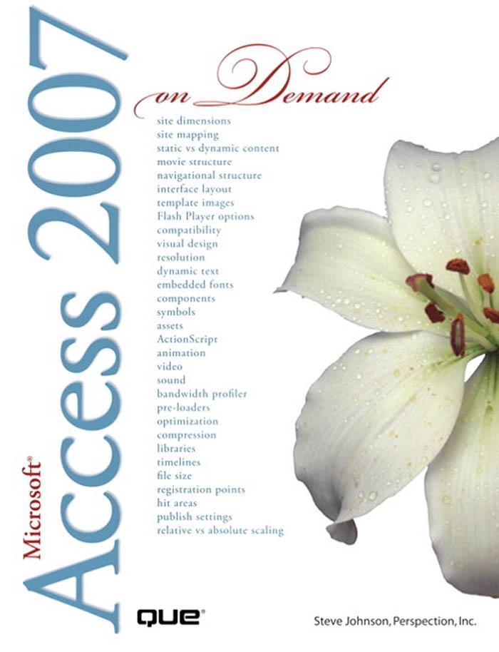 Microsoft Office Access 2007 on Demand EB9780768674491