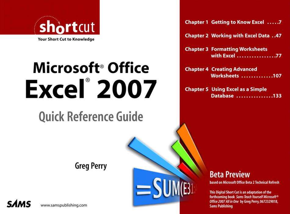 Microsoft? Office Excel? 2007 Quick Reference Guide EB9780768668681