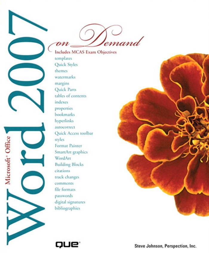 Microsoft? Office Word 2007 On Demand EB9780768674507
