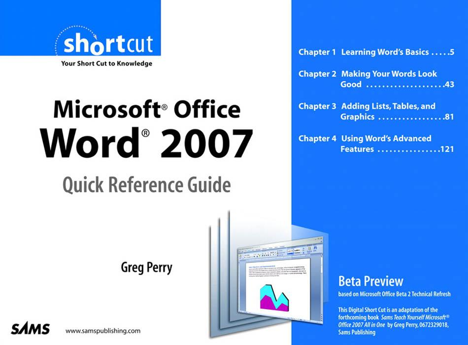 Microsoft? Office Word 2007 Quick Reference Guide EB9780768668667