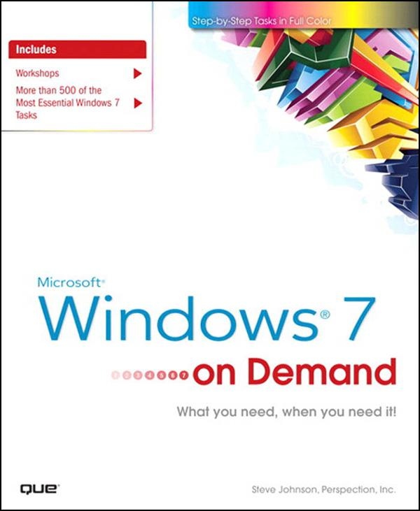 Microsoft Windows 7 On Demand EB9780132714235