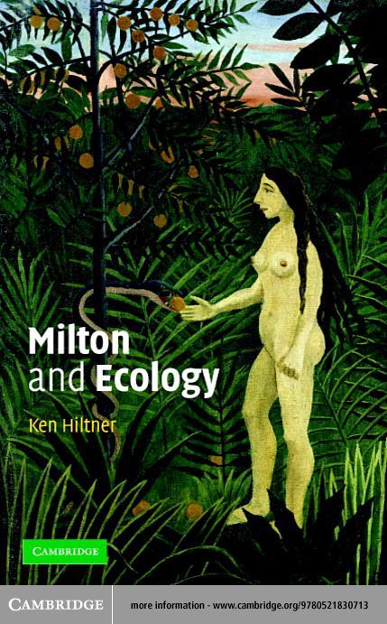Milton and Ecology EB9780511056604