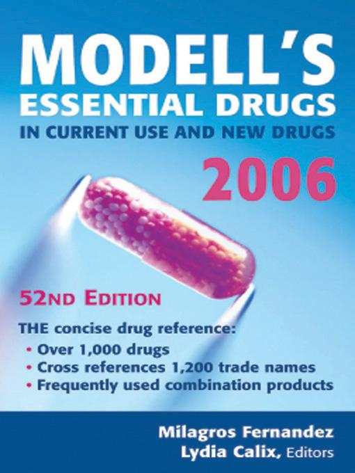 Modell's Drugs in Current Use and New Drugs, 2006: 52nd Edition EB9780826170972
