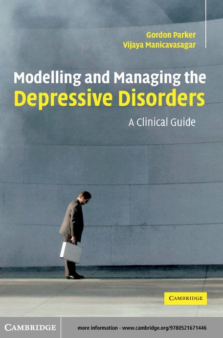 Modelling Managing Depressive Order EB9780511128271