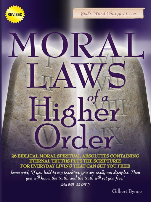Moral Laws of a Higher Order, New Edition EB9780976791324
