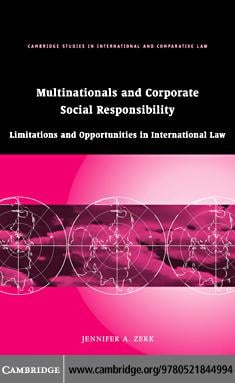 Multinationals and Corporate Social Responsibility EB9780511247699
