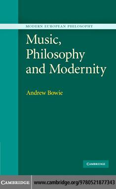 Music, Philosophy, and Modernity EB9780511352690