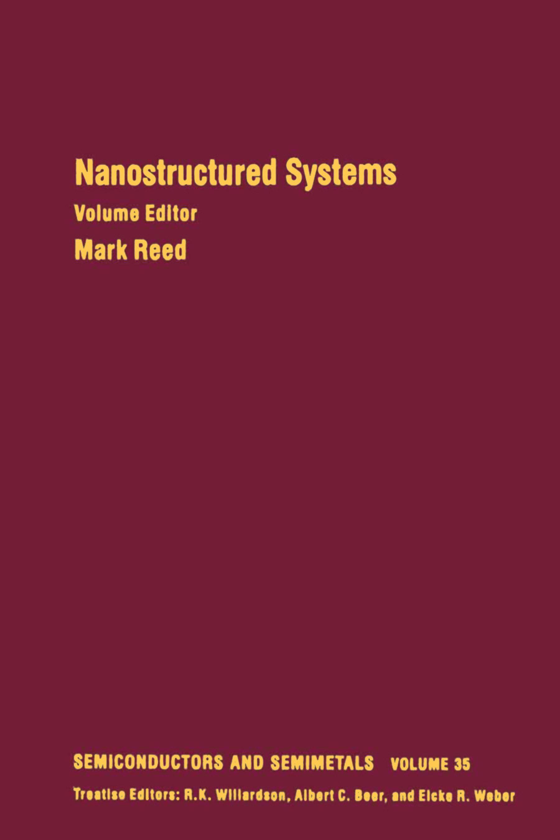 Nanostructured Systems: Volume 35 EB9780080864327