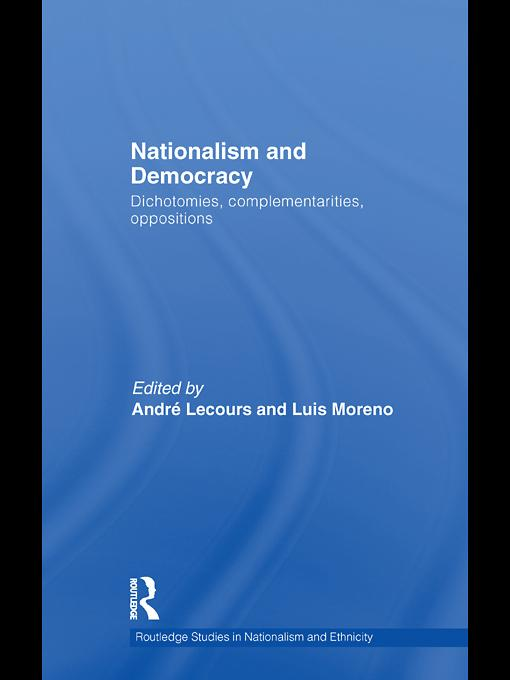 Nationalism and Democracy EB9780203858516