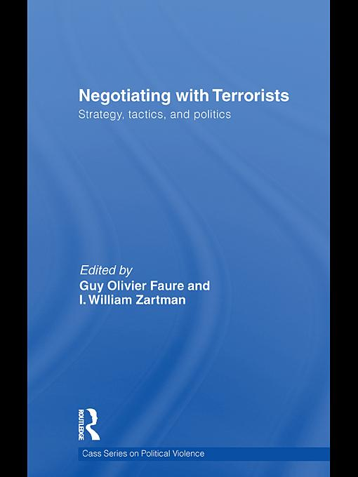 Negotiating with Terrorists EB9780203855591