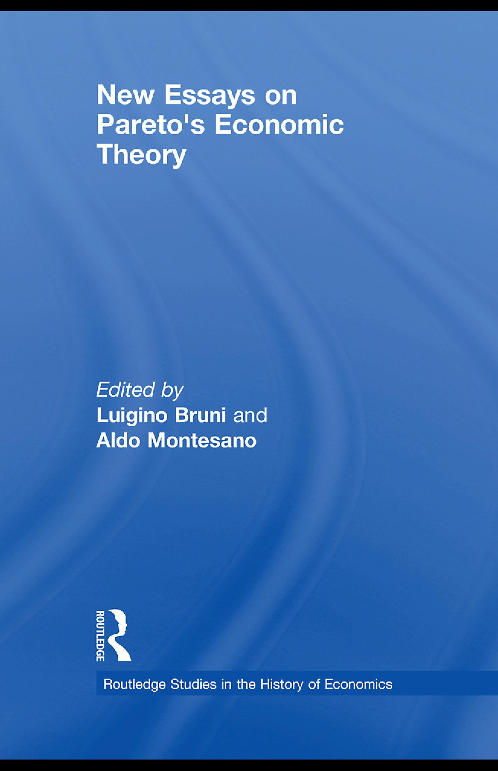 New Essays on Pareto's Economic Theory EB9780203882986