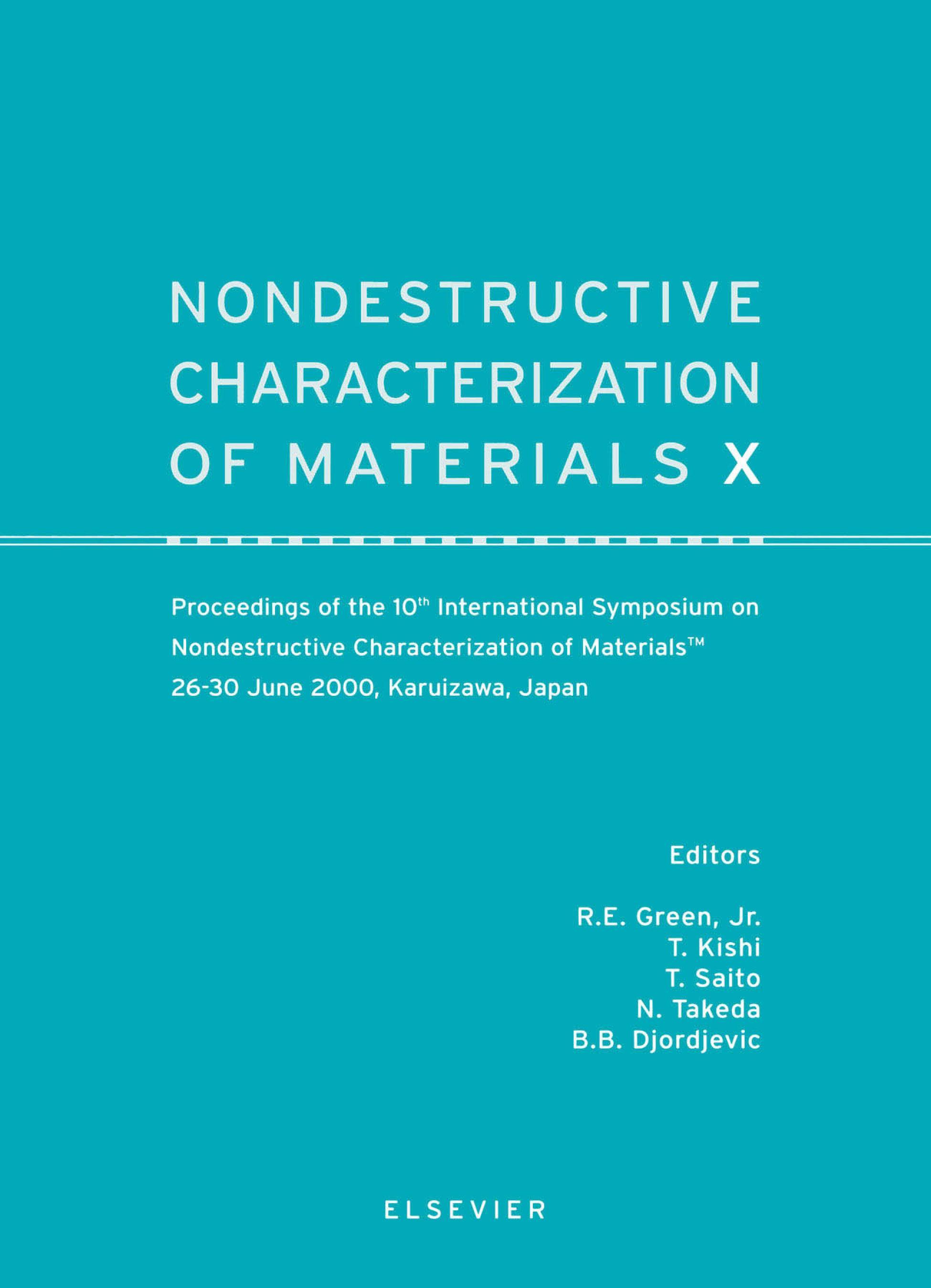Nondestructive Characterization of Materials X EB9780080552101