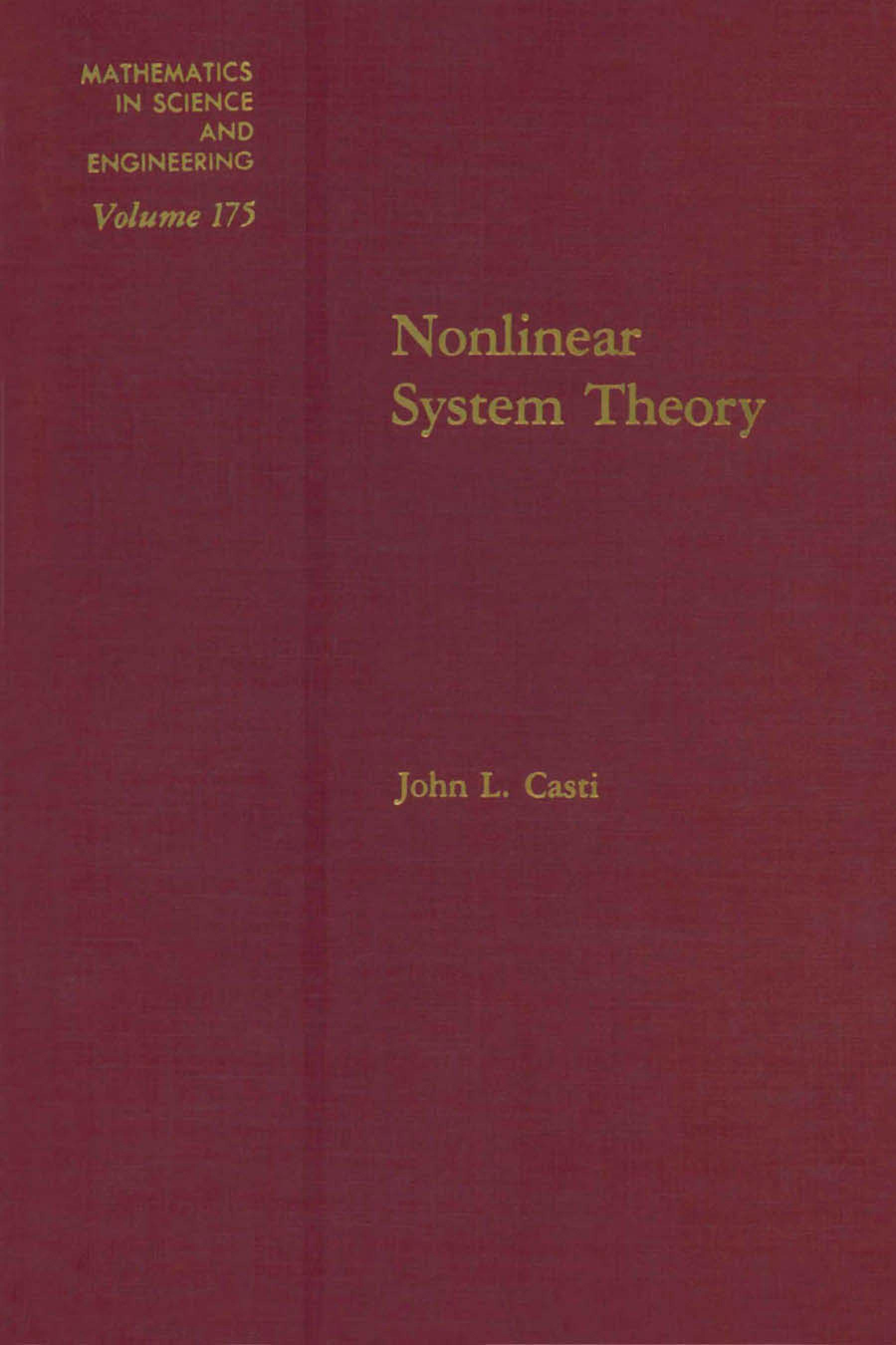 Nonlinear system theory EB9780080958651