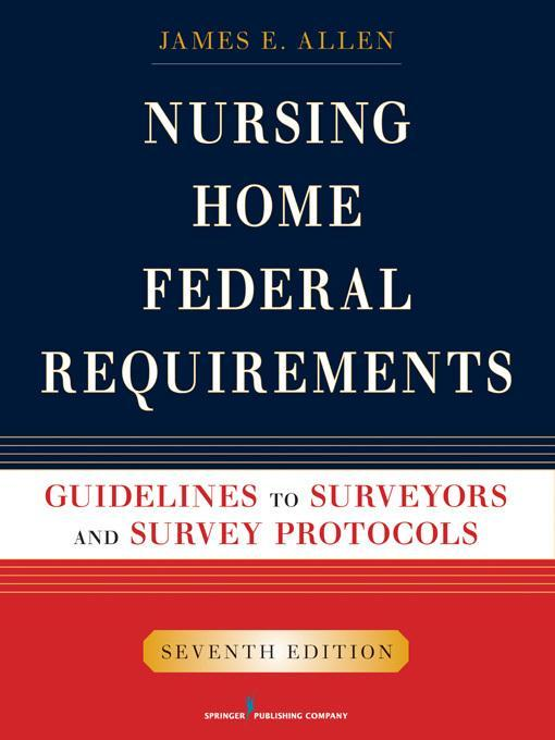 Nursing Home Federal Requirements EB9780826107923