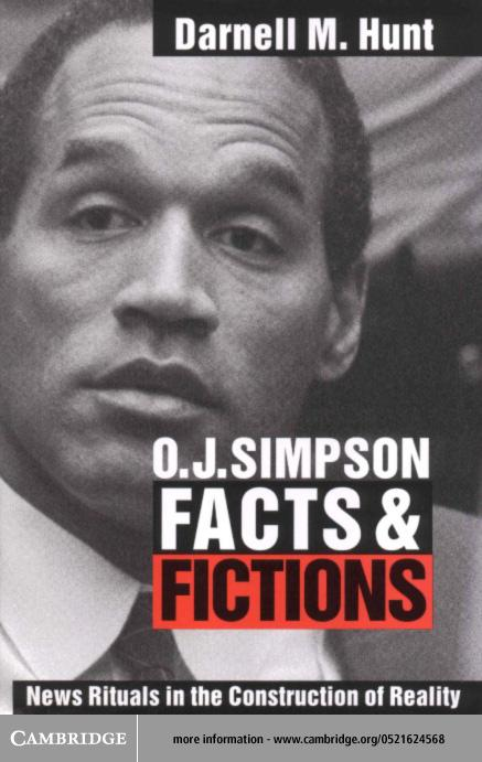 O. J. Simpson Facts and Fictions EB9780511035579