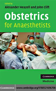 Obstetrics for Anaesthetists EB9780511380747