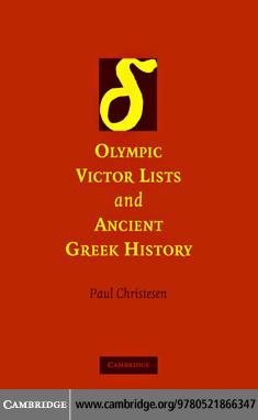Olympic Victor Lists and Ancient Greek History EB9780511473784