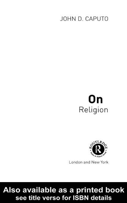 On Religion EB9780203184103
