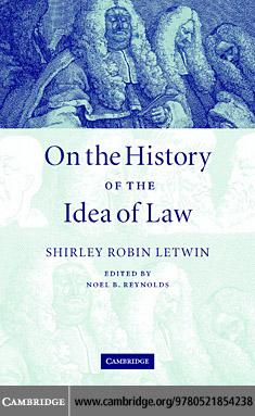 On the History of the Idea of Law EB9780511138218