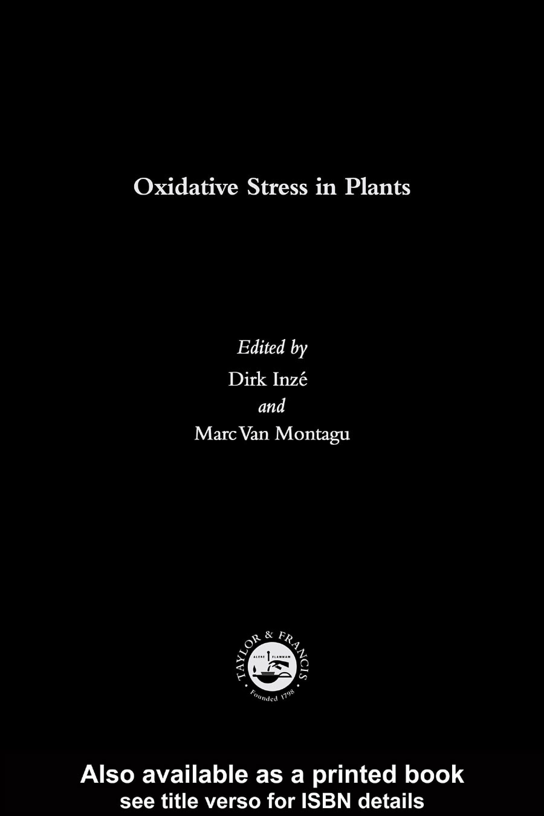 Oxidative Stress in Plants EB9780203303146