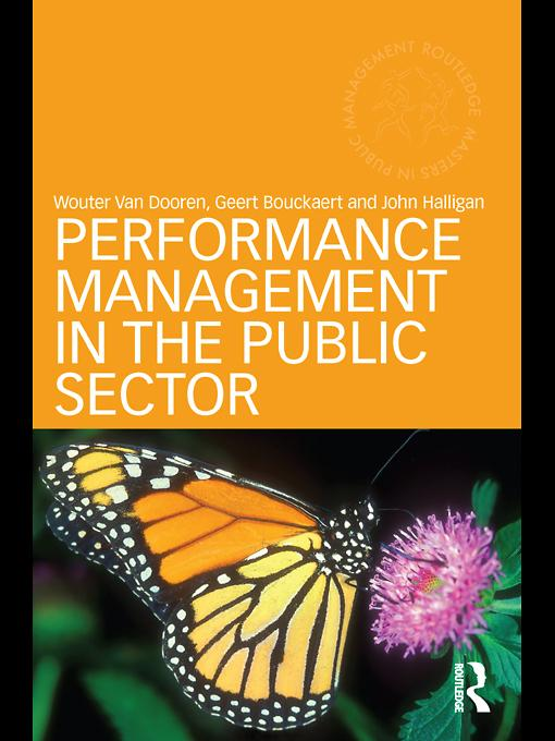 Performance Management in the Public Sector EB9780203030806