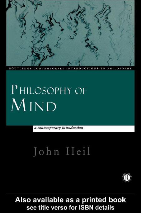 Philosophy of Mind: A Contemporary Introduction EB9780203162323