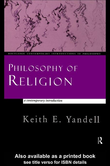 Philosophy of Religion: A Contemporary Introduction EB9780203208540