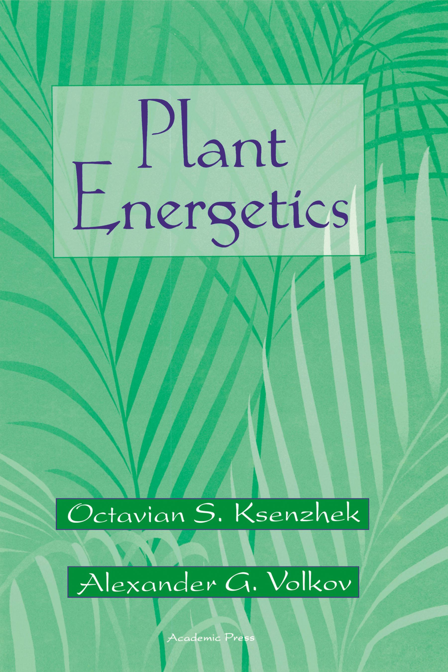 Plant Energetics EB9780080514017