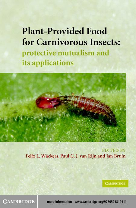 Plant-Provided Food for Carnivorous Insects EB9780511123764