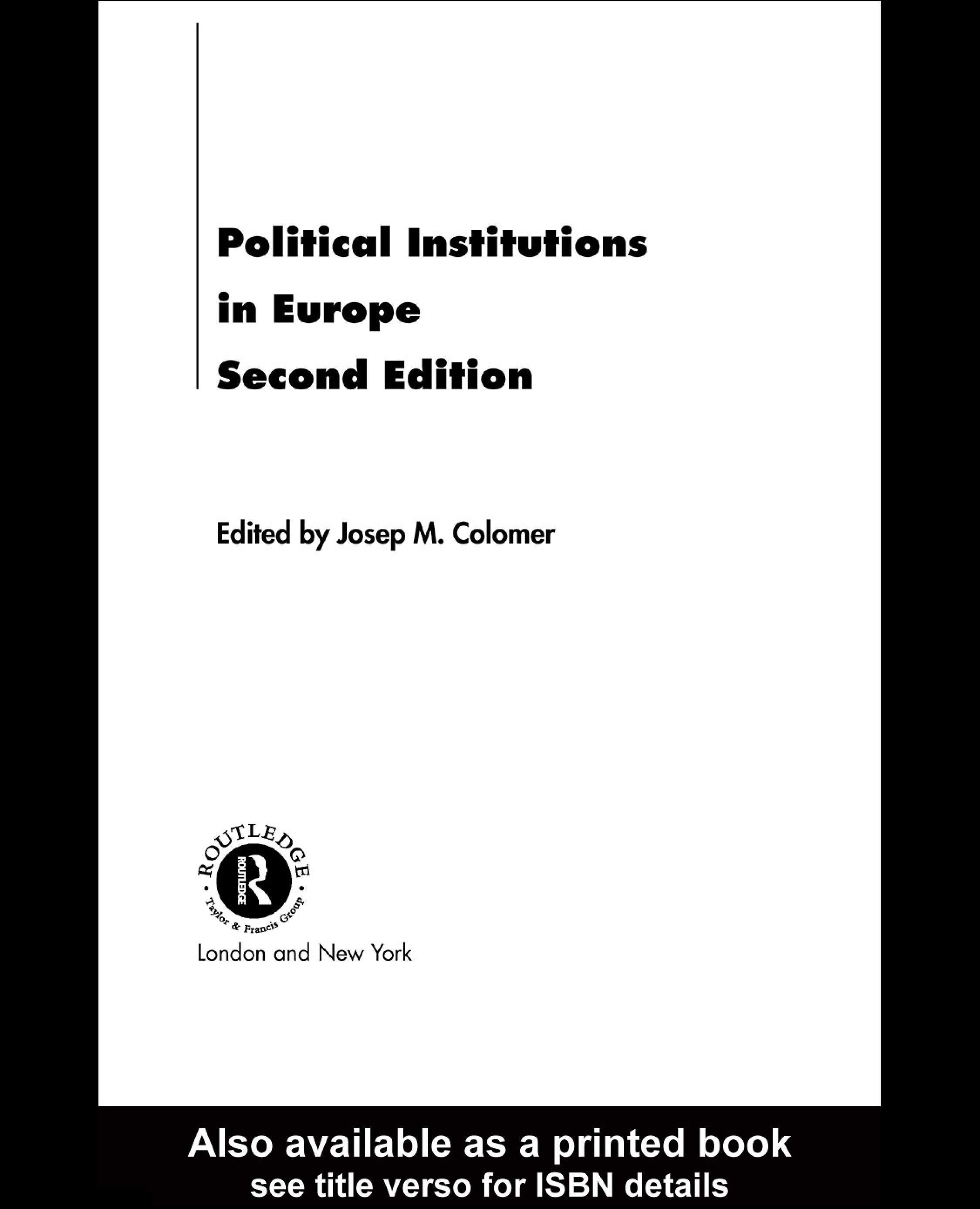Political Institutions in Europe EB9780203303559