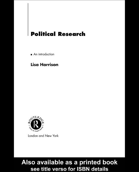 Political Research EB9780203773611
