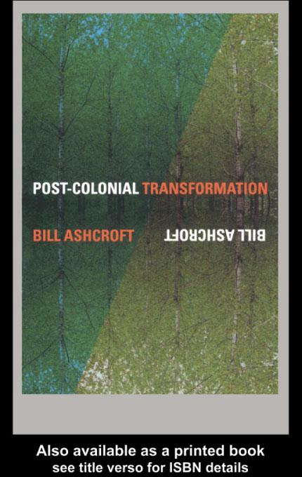 Post-Colonial Transformation EB9780203176894
