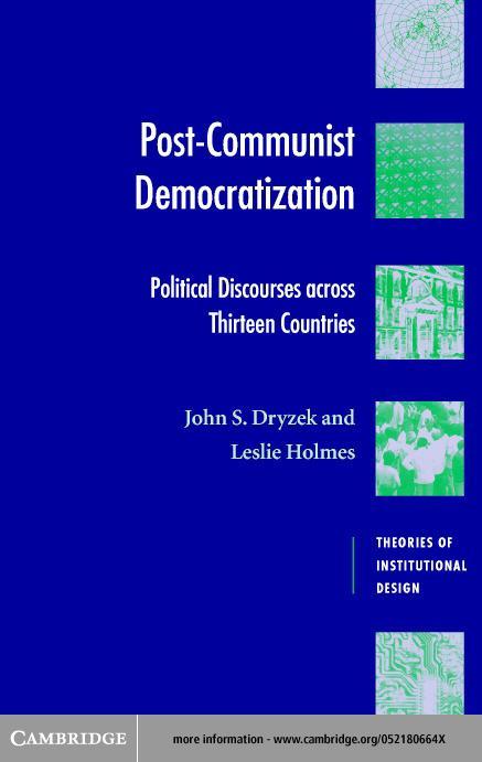 Post-Communist Democratization EB9780511028953
