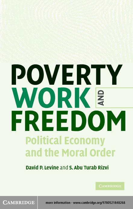 Poverty, Work and Freedom EB9780511123856