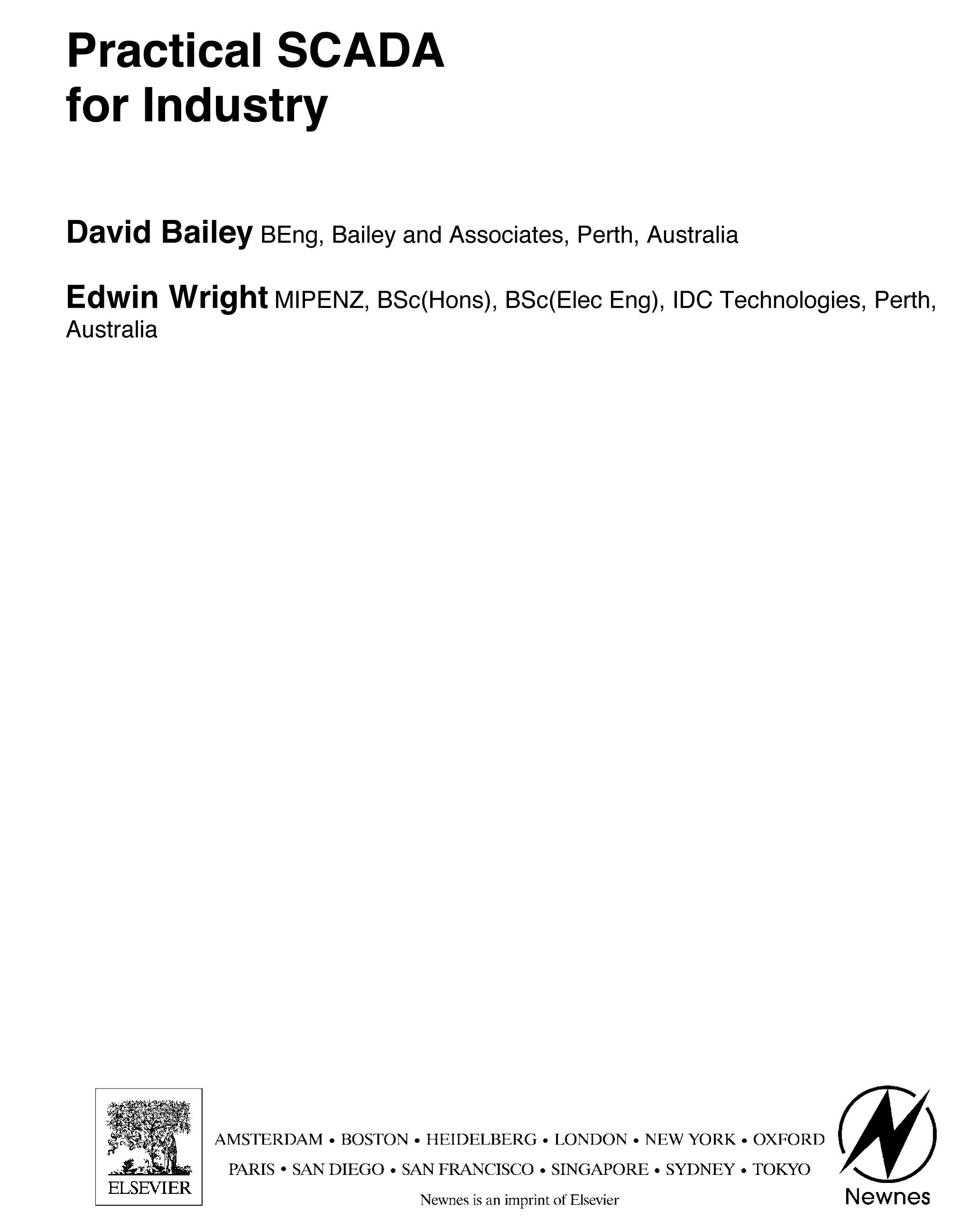 Practical SCADA for Industry EB9780080473901