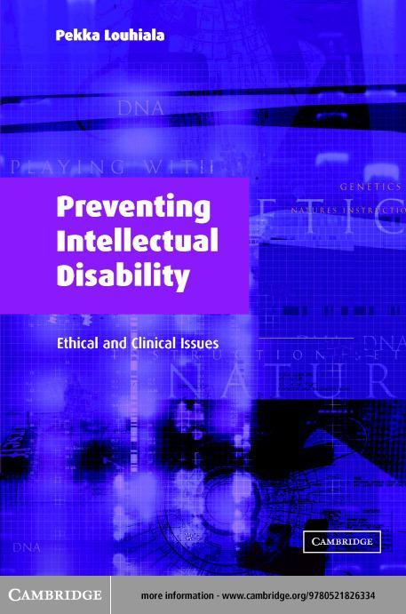 Preventing Intellectual Disability EB9780511056253