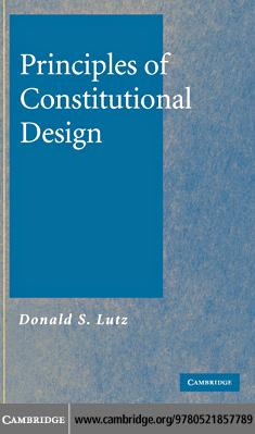 Principles of Constitutional Design