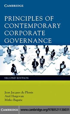 Principles of Contemporary Corporate Governance EB9780511985119