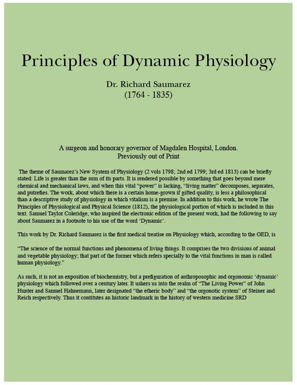 Principles of Dynamic Physiology EB9780973125641