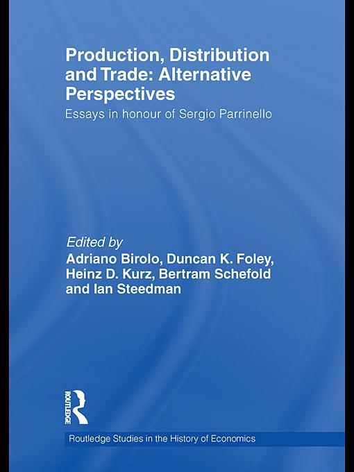 Production, Distribution and Trade EB9780203848456