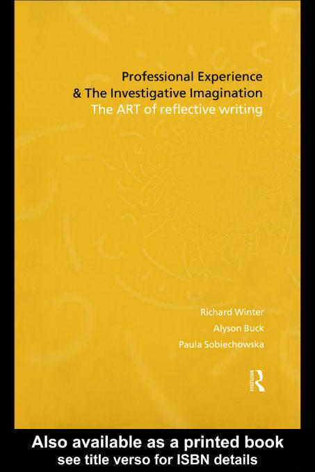 Professional Experience and the Investigative Imagination